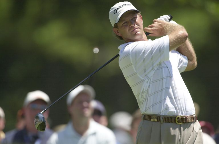 Retief Goosen during the playoff at the 2001 US Open.