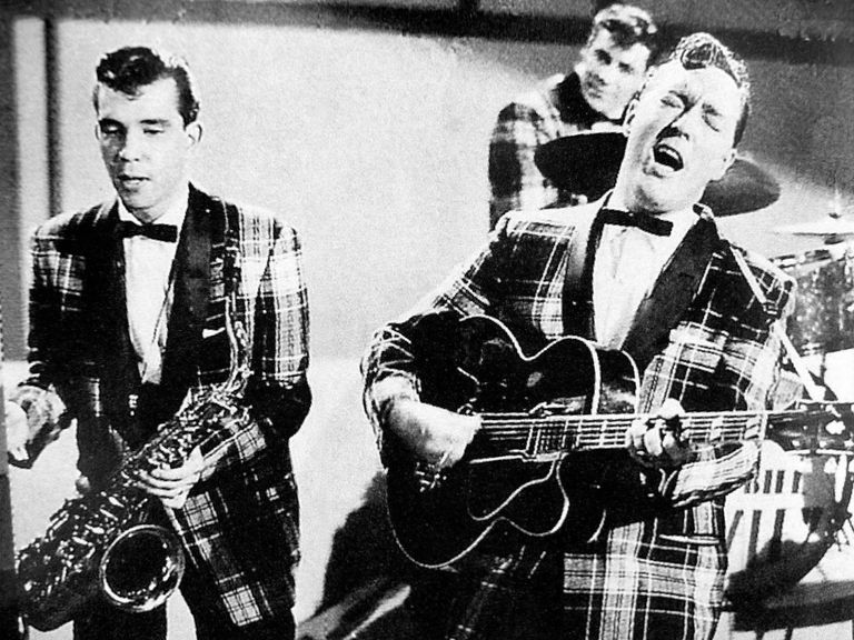 Bill Haley and His Comets in the 1954 film Round Up of Rhythm
