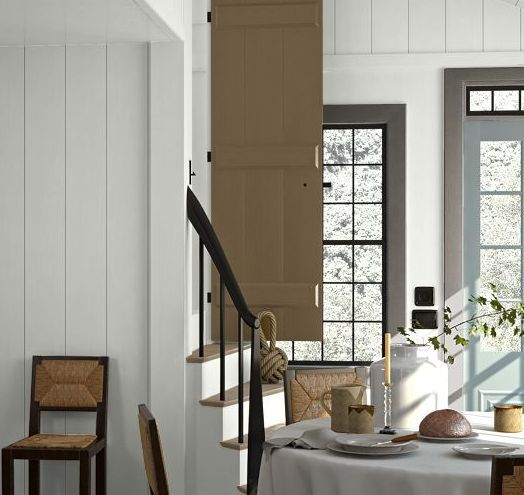 White Dining Room Farmhouse Color