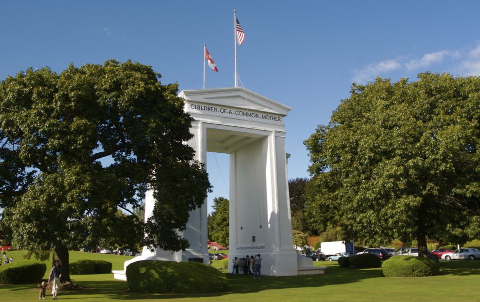 The Peace Arch On Canadian United States Border