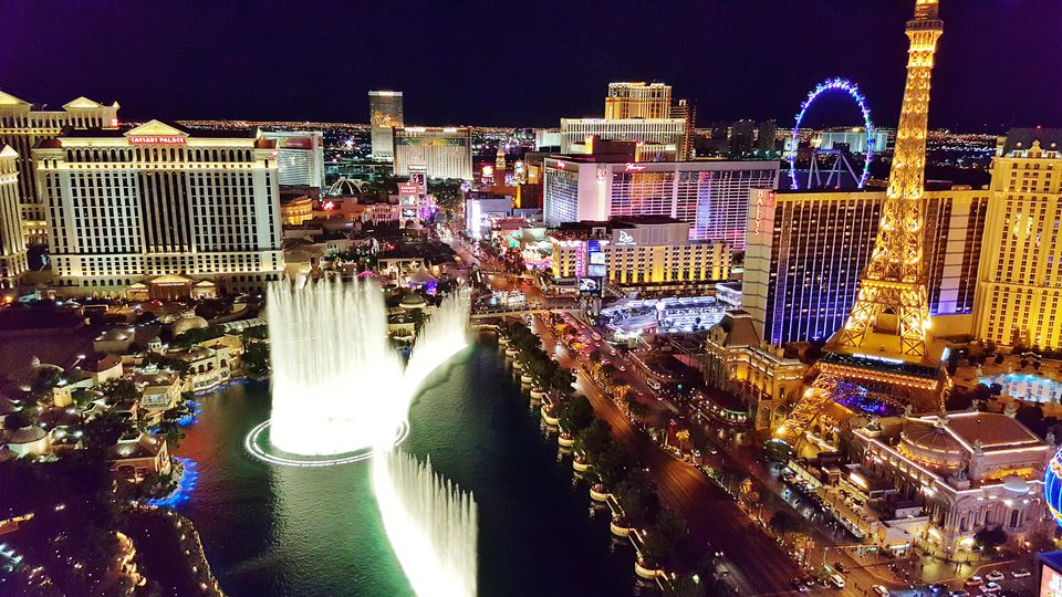Las Vegas Strip At Night From Above