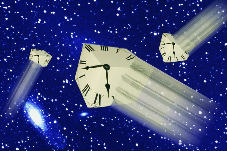 According to the Twin Paradox, two clocks (or people) moving at different speeds experience time at different rates.
