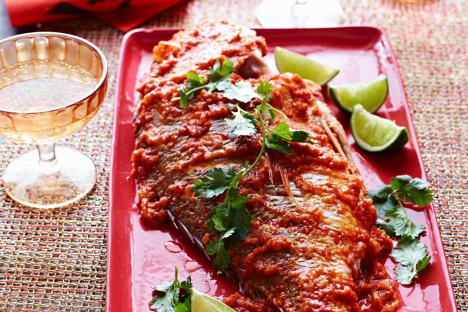 Fried fish in sambal sauce