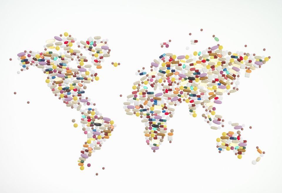 world map pills