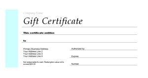 gift certifcate template  173 Free Gift Certificate Templates You Can Customize