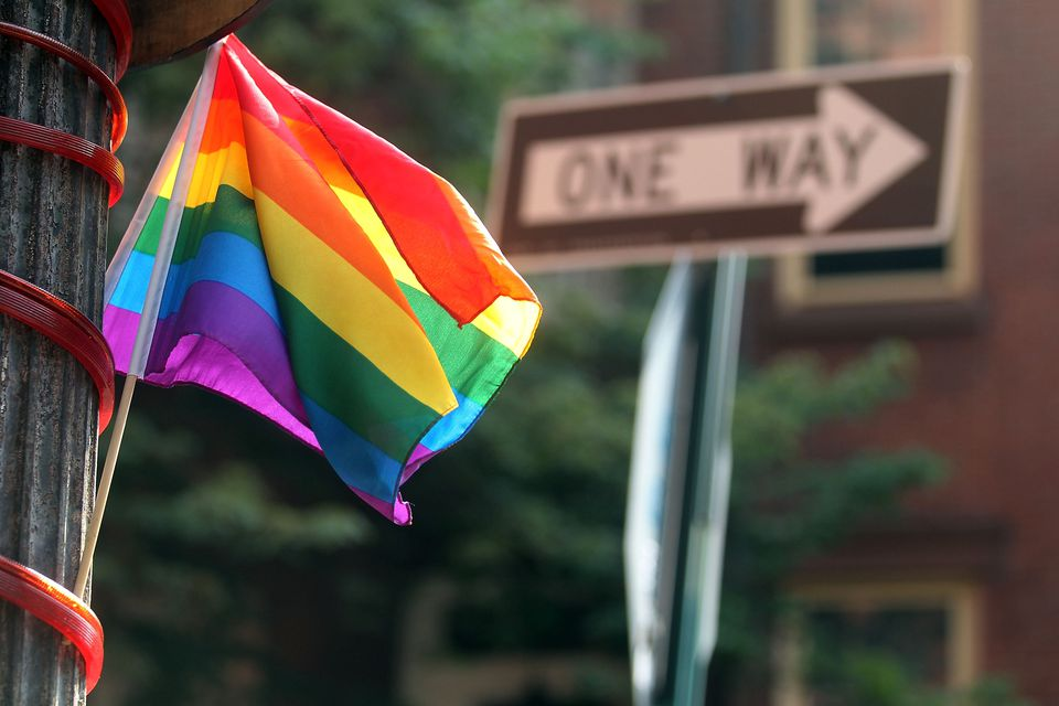 rainbow flag in nyc