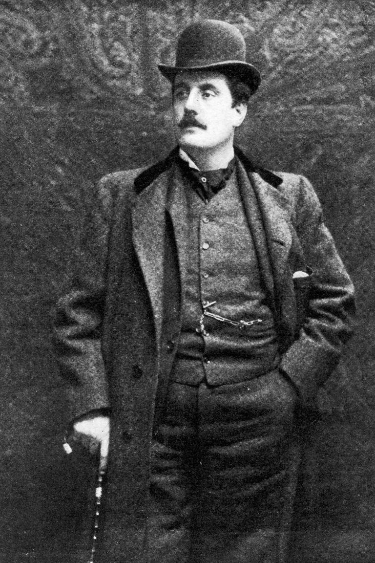 Italian operatic composer Giacomo Puccini (1858 - 1924), circa 1900.