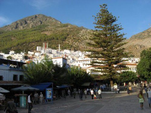 Chefchaouen, Morocco, main square in town