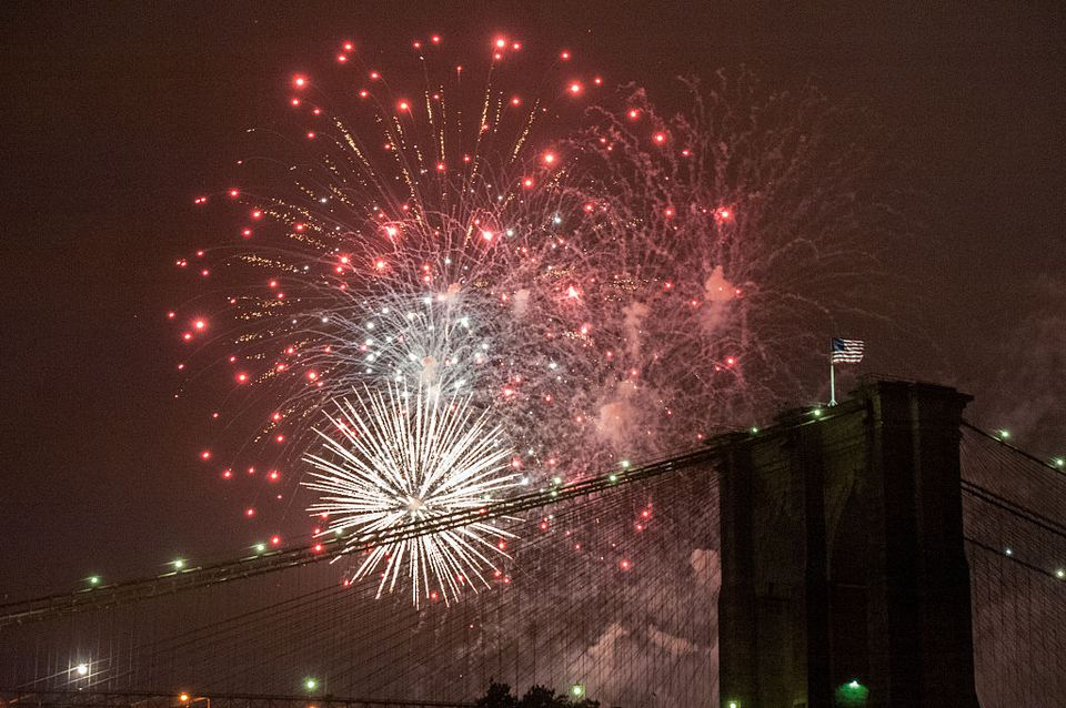 Fourth Of July Fireworks Light Up The Skies Over New York City