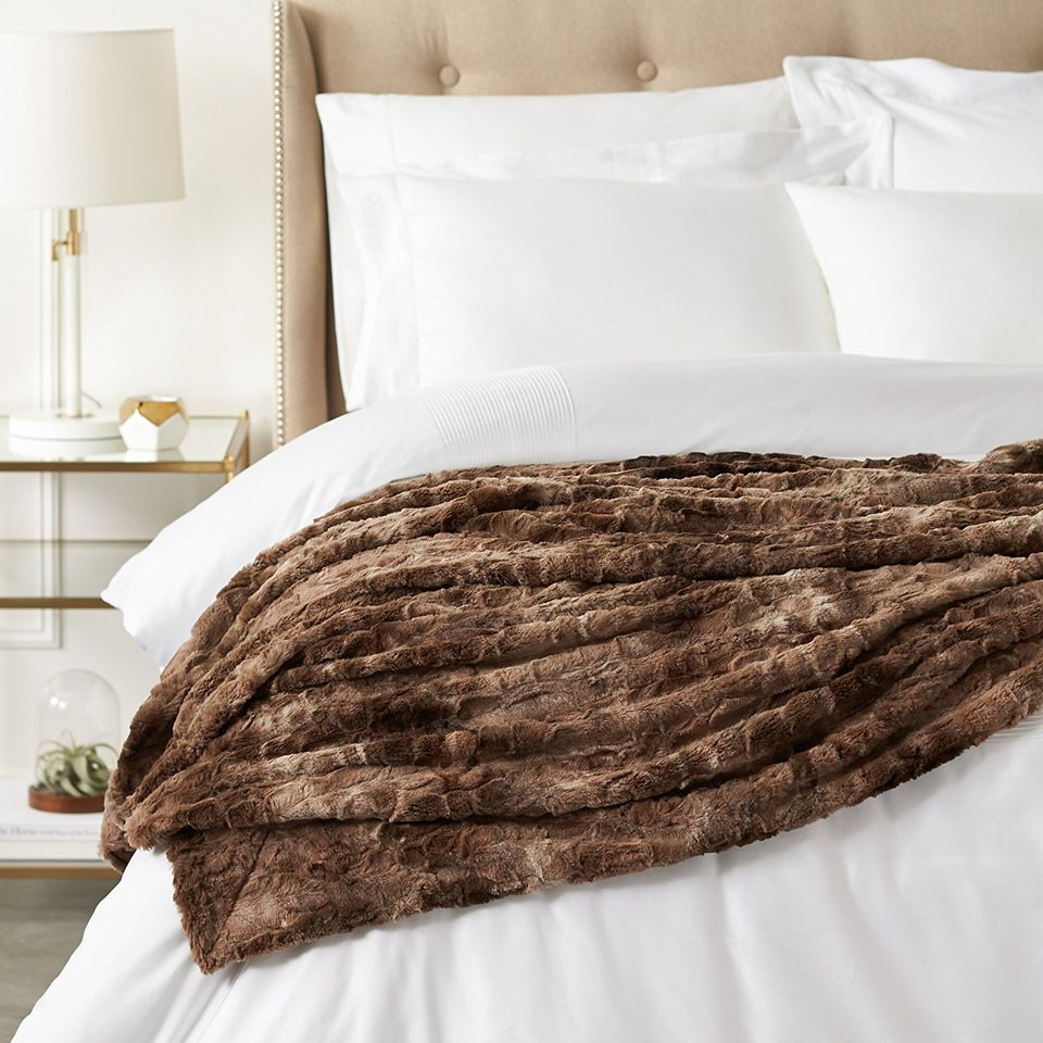 Interior Fur Bed Sheets the 7 best faux fur blankets to buy in 2018