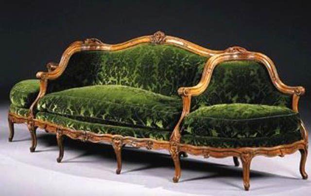 Canapé à Confidante Sofa - Antique Couch, Sofa And Settee Styles