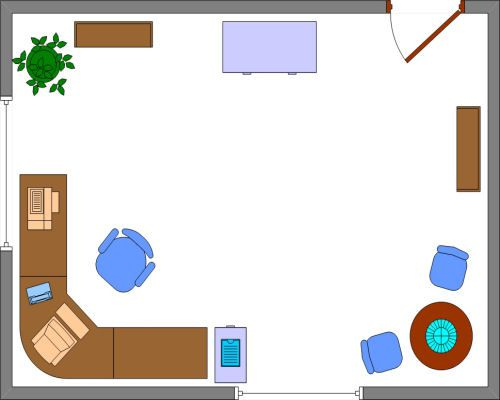 home office floor plan. Corner Home Office Layout Sample Design Examples