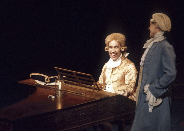 """Mozart and Salieri from a 1983 production of """"Amadeus"""""""