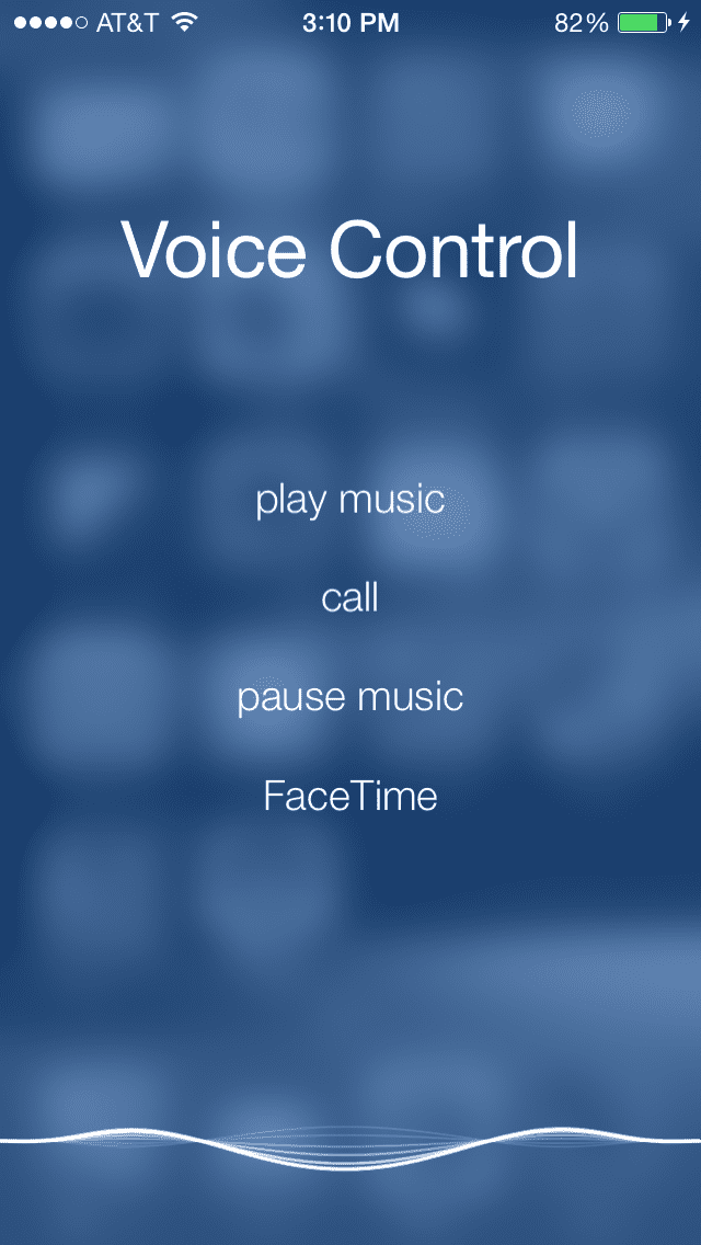 iPhone Voice Control in Action