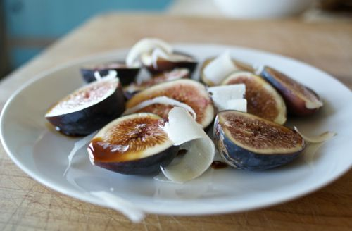 Figs With Balsamic and Parmesan