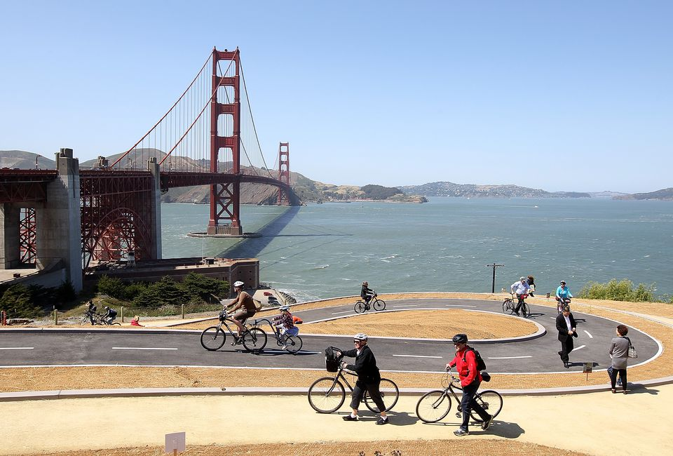 Bicycling at the Golden Gate Bridge