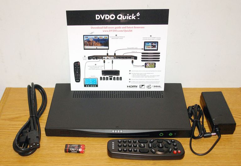 DVDO Quick6 6x2 4K UltraHD HDMI Switch with Included Accessories