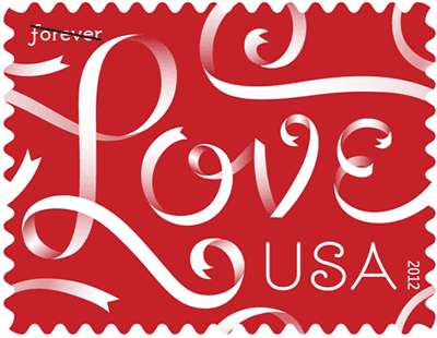Make valentines you send to the grandchildren special with a Love Ribbons stamp.