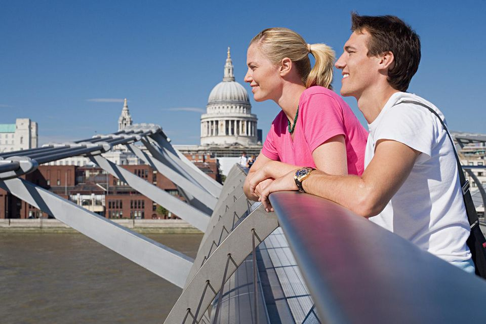 Couple on Millennium Bridge
