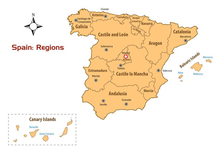 Spain Regions Map and Guide