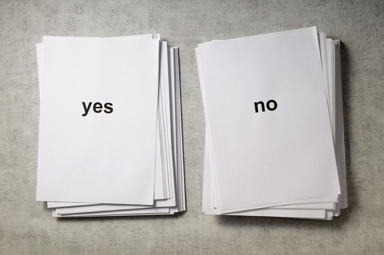 Yes and no piles