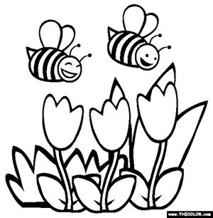 free spring coloring pages at thecolorcom - Free Spring Coloring Pages