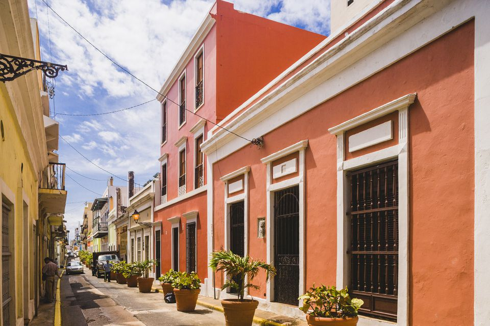 A street in Old San Juan, Puerto Rico.
