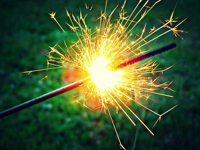 Sparklers are a type of firework that produces a shower of glittery sparks, but does not explode.
