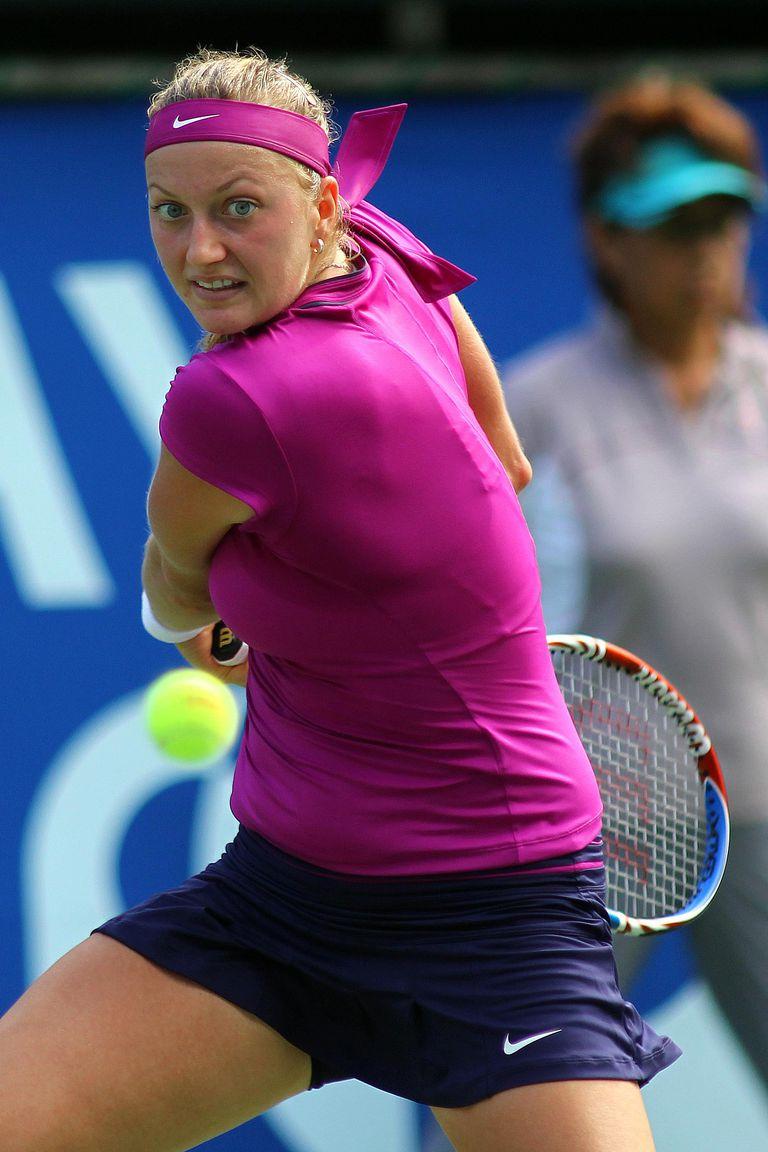 Photo of Petra Kvitova - Backswing for Two-Handed Backhand