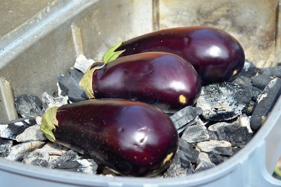 Eggplant in Coals