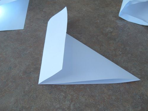 how to make a paper cone from a rectangle