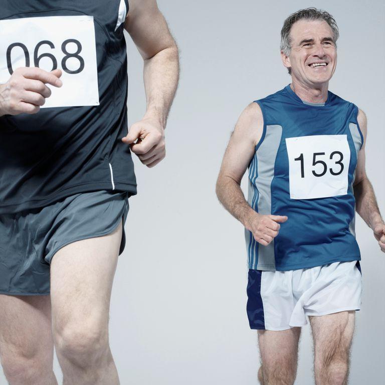 Runner in race
