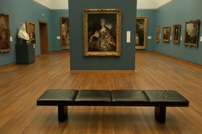 Bench in a museum