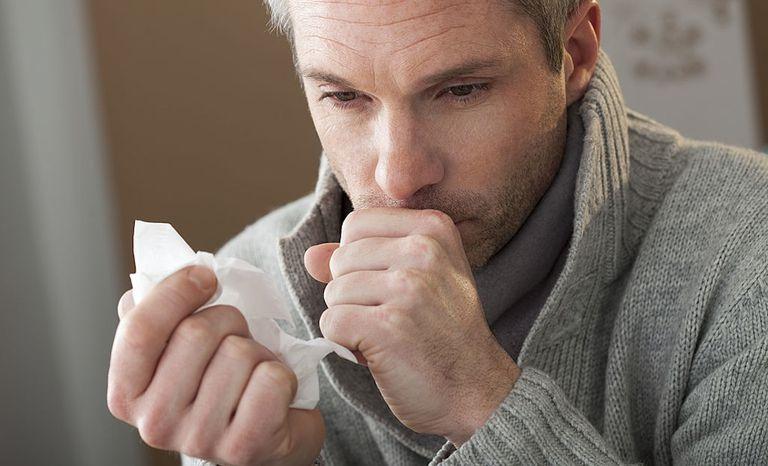 man cough COPD