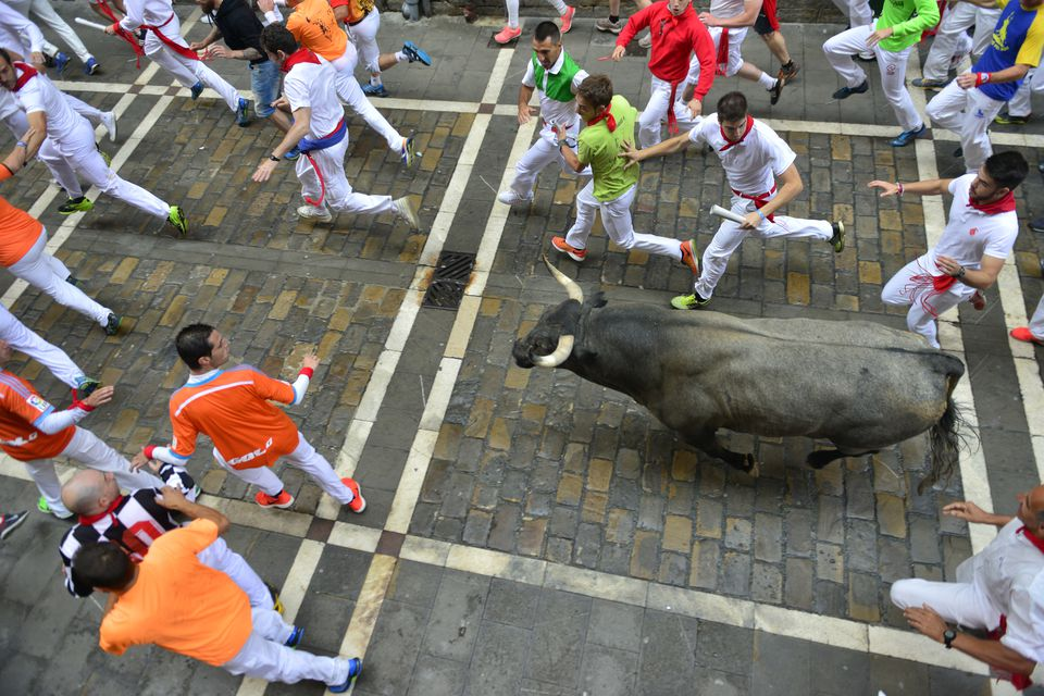 Running with the bulls, Spain