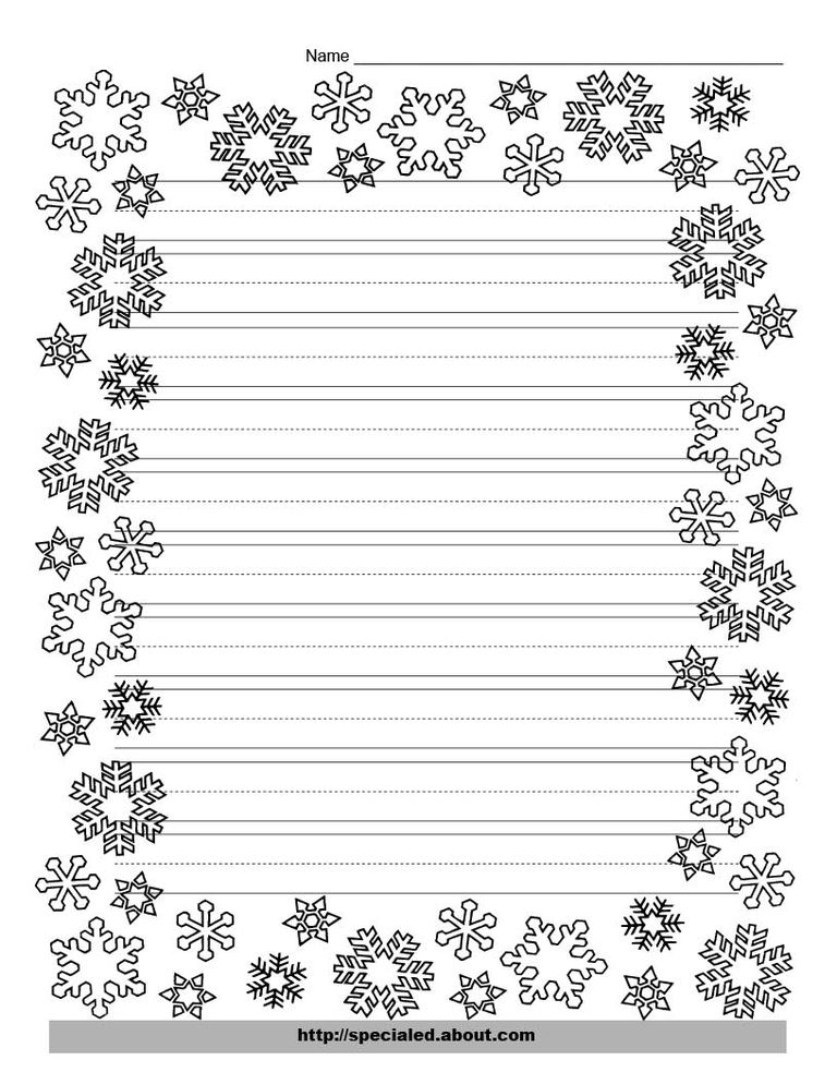 christmas writing paper printables a snowflake border for christmas writing websterlearning this paper