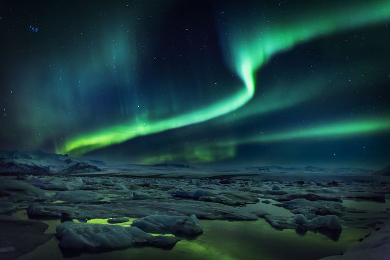 Most of the color you see in an aurora comes from the excitation of oxygen and nitrogen.