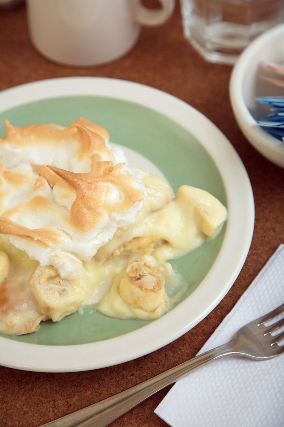 Baked Banana Pudding with Meringue
