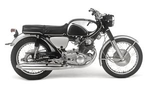 Image of a black motorcycle, illustrating car sweepstakes at About.com.