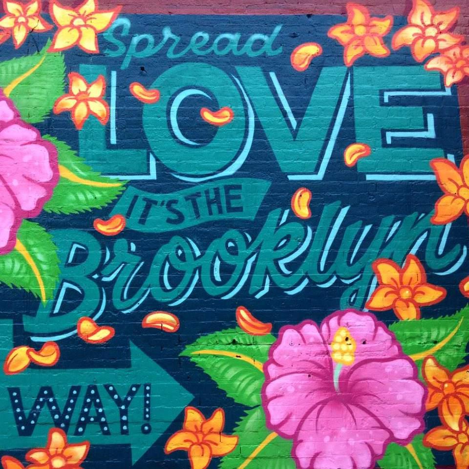 Mural, Spread Love It's The Brooklyn Way