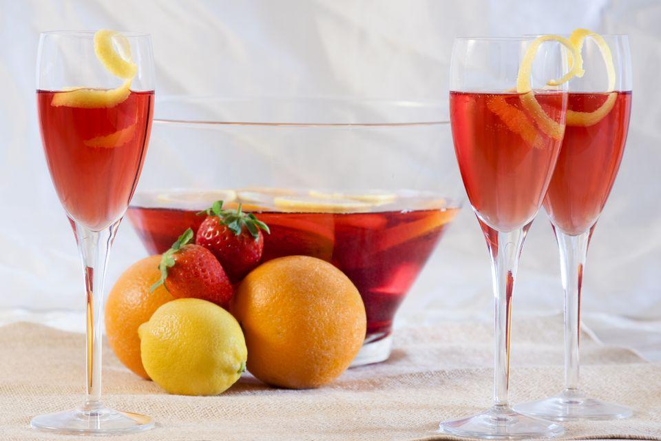 Cranberry Elderflower Champagne Punch