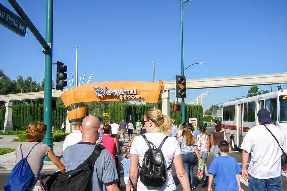 Walking to Disneyland