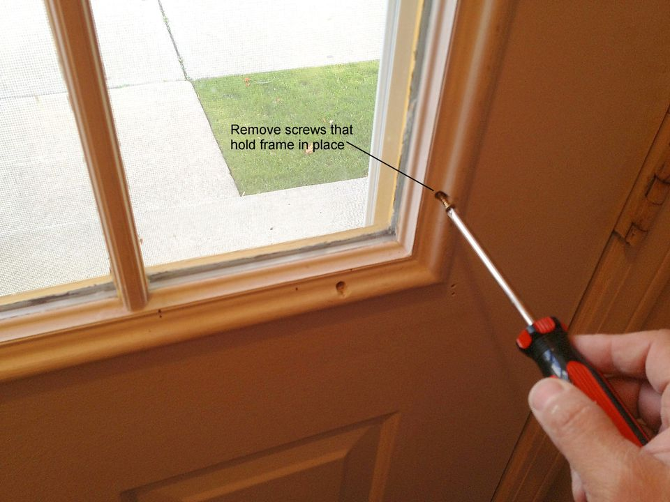 How to replace a glass frame in an exterior door for Door frame with side window