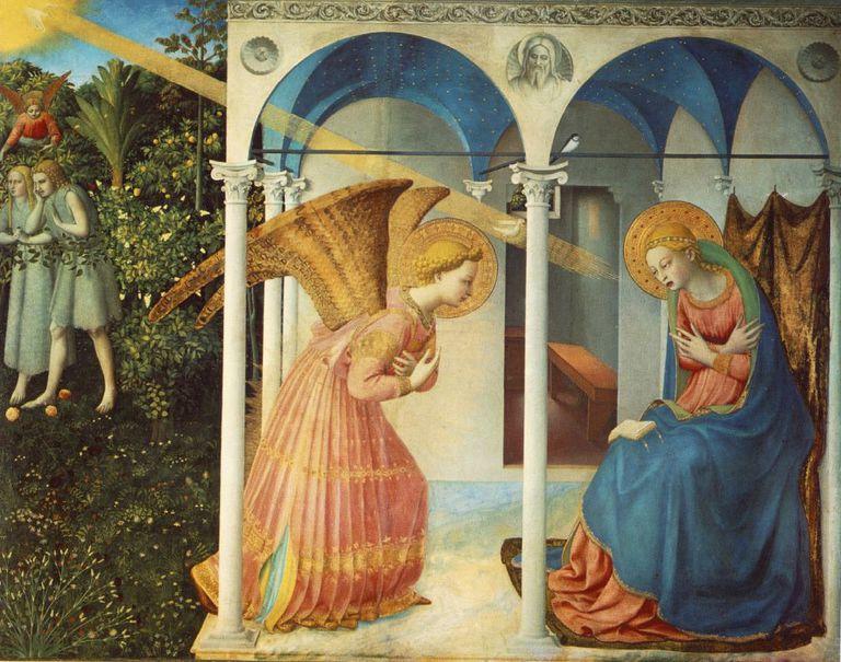 La Anunciación por Fra Angelico