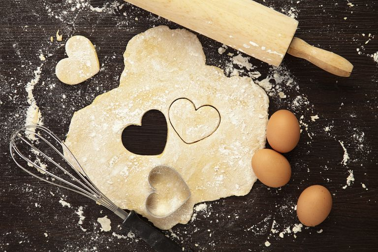 Baking with love concept