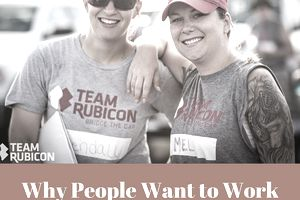 Team Rubicon has happy employees and volunteers.