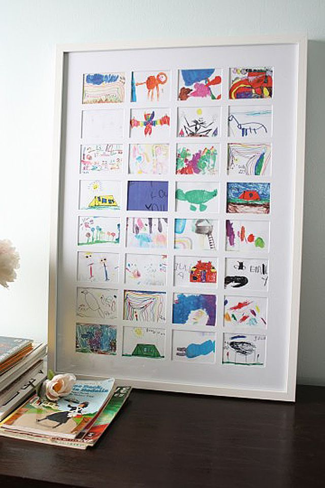 Some Creative Ways To Display Your Kid S Art