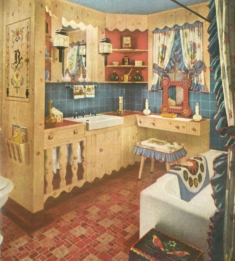 1940s Bathroom Colonial Style. 1940s Home Style   Kitchen Decor