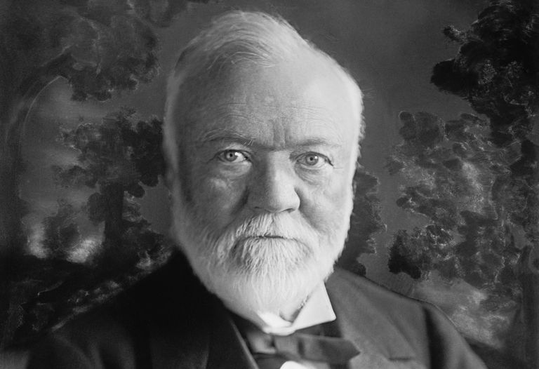 Photographic portrait of steel magnate Andrew Carnegie