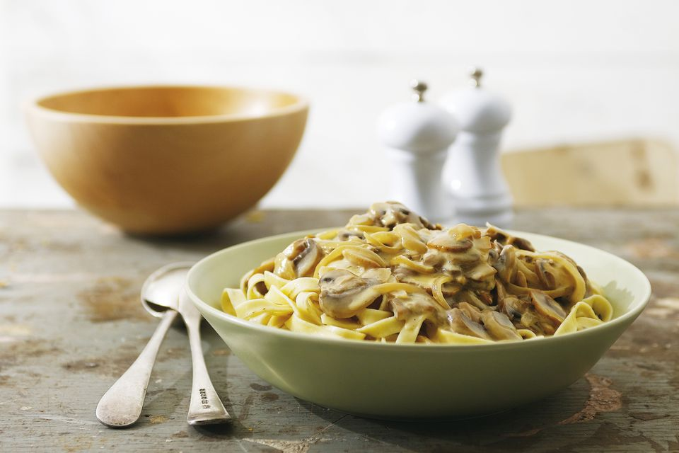 Beef and Mushrooms With Noodles
